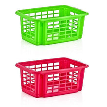 Load image into Gallery viewer, 5.5 Litre Plastic Stacker Storage Kitchen Basket 5506 (Parcel Rate)