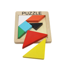 Load image into Gallery viewer, Childrens Fun Wooden PUZZLE Assorted Blocks Square Childrens Puzzle 10cm T21244 (Parcel Rate)
