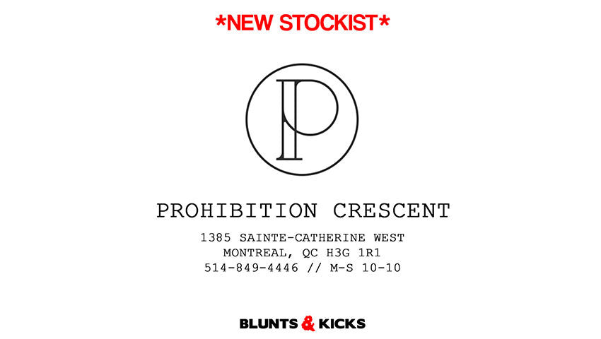 *NEW STOCKIST ALERT* PROHIBITION CRESCENT