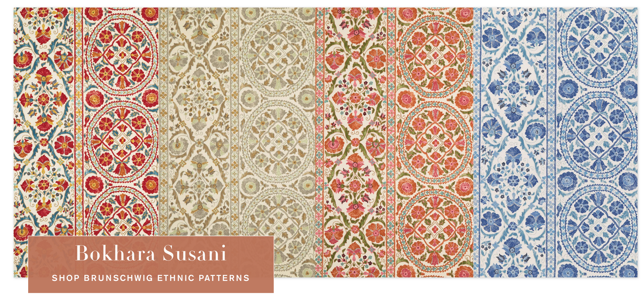 Brunschwig et Fils launches a new line of suzani inspired textiles, pretty!