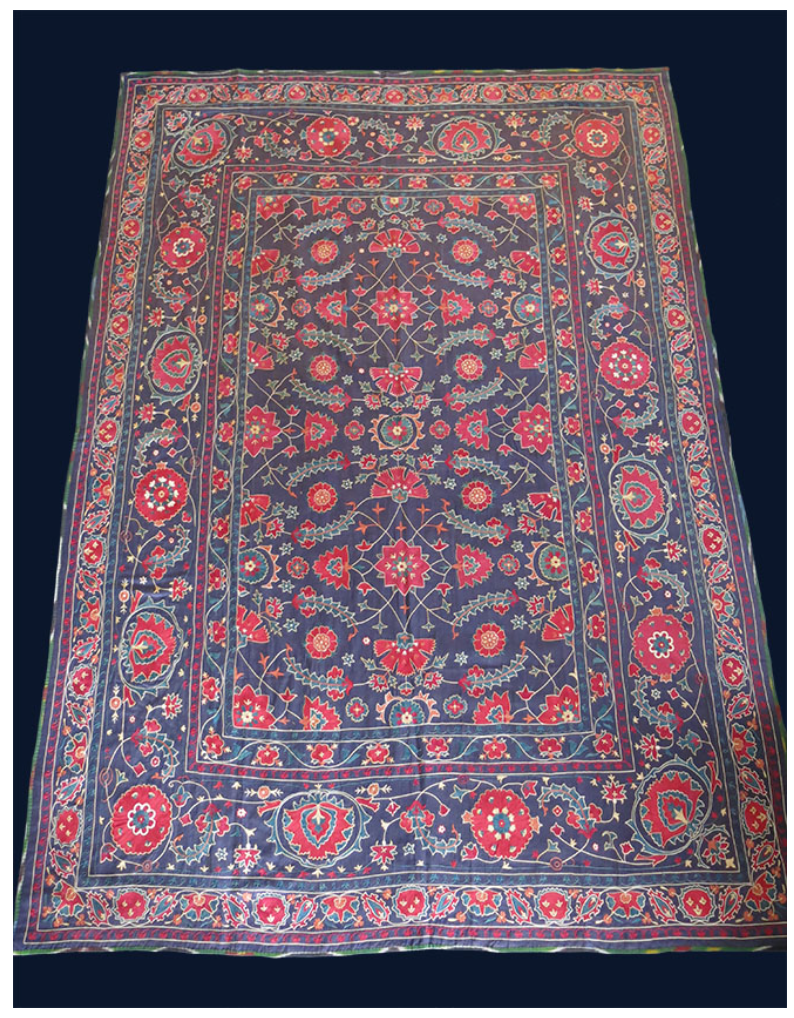 Uzbek Fergana Valley Silk Embroidered Suzani