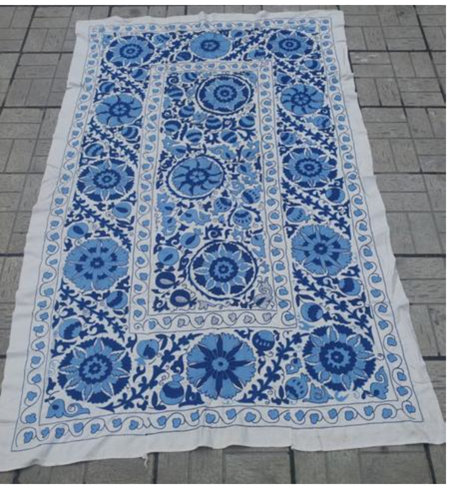 SOLD Uzbek Winter Garden suzani
