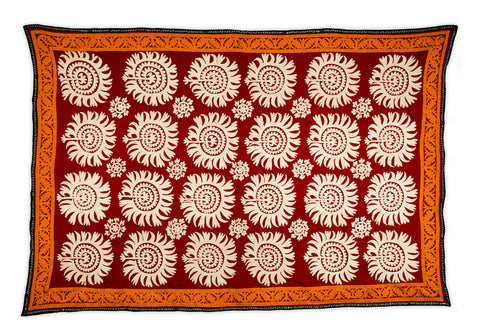 Uzbek Large Red and White Samarkand