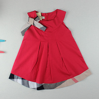 59a42467d Baby clothing summer style dresses cotton child outfits plaid ...