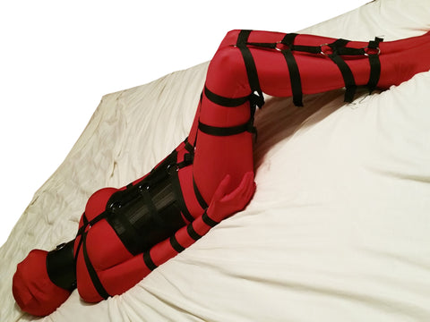 Full Body Bondage Harness (Poly Webbing, Hands at Sides - Triglides) - Bondage Webbing