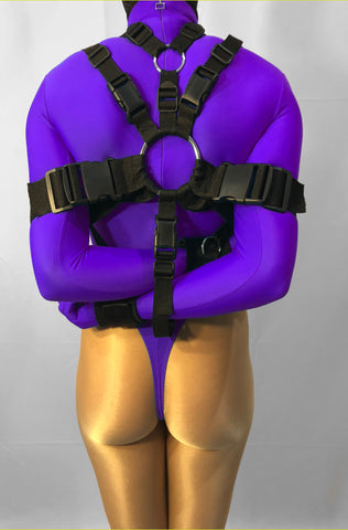 Box-Tie Harness (Slip-Tie Style, Heavy Restraint, Inescapable!) - Bondage Webbing