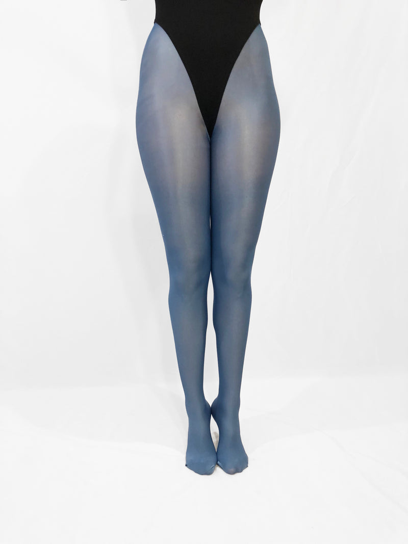 Shiny Pantyhose (Evening Blue) - Bondage Webbing