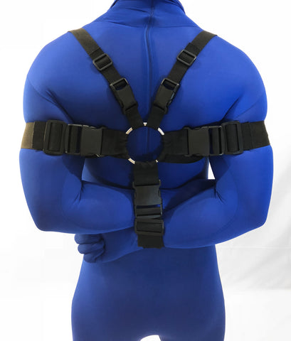 Box-Tie Bondage Heavy Harness (2-Inch, Poly Webbing)
