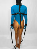 Neck to Wrist Restraint System with Box-Tie (Poly Webbing, Inescapable!) - Bondage Webbing