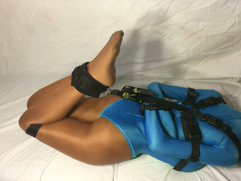 Hogtie Ratchet System and Ankle Strap for Box-Tie Harness (Poly Webbing) - Bondage Webbing