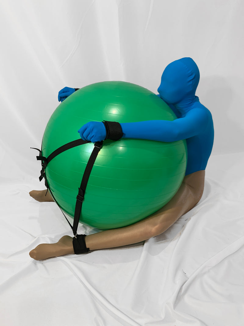 Self Bondage Exercise Ball System - Bondage Webbing