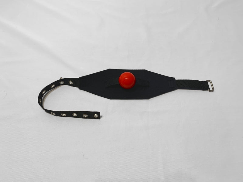 Locking Neoprene Panel Gag (Silicone Ball) - Bondage Webbing
