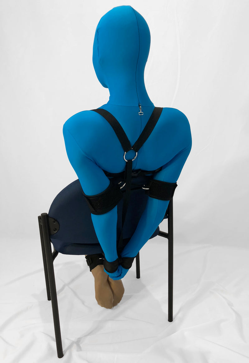 Self Bondage Chair Tie System (Advanced) - Bondage Webbing