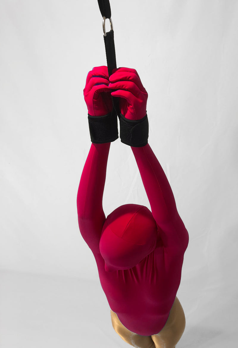 Neoprene Padded Partial Suspension Cuffs with D-ring - Bondage Webbing