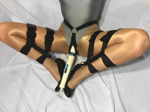 Thigh to Ankle Bondage Harness with T-Style Vibrator