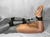 4-Way Hogtie Clip System with Elbow, Wrist, and Ankle Cuffs (Poly Webbing) - Bondage Webbing