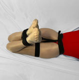 Self Bondage Leg Harness (Ankles to Ass, Male Crotch Friendly, Poly Webbing) - Bondage Webbing