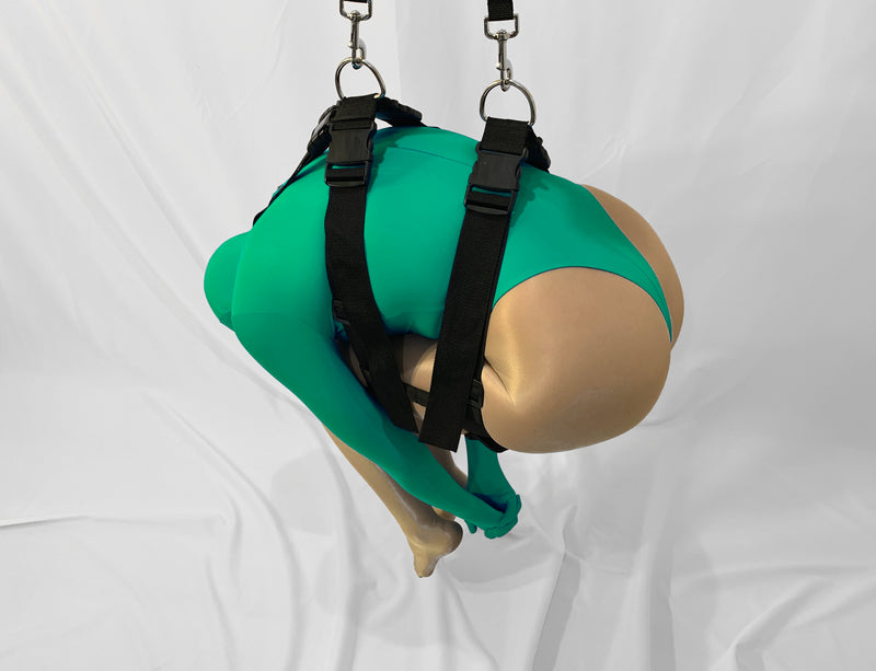 Suspension Harness (Chest to Thighs, Self Bondage Capable) - Bondage Webbing