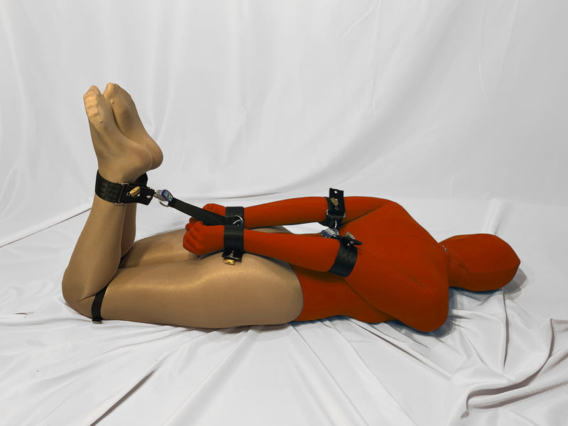 Bondage Escape Games (Basic Hogtie with Elbow Cuffs) - Bondage Webbing