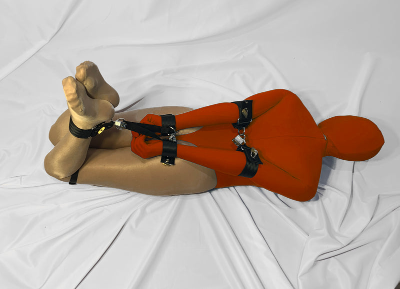 Locking Hogtie Set with Elbow Cuffs - Bondage Webbing