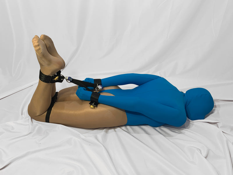 Self Bondage Locking Hogtie Set - Bondage Webbing
