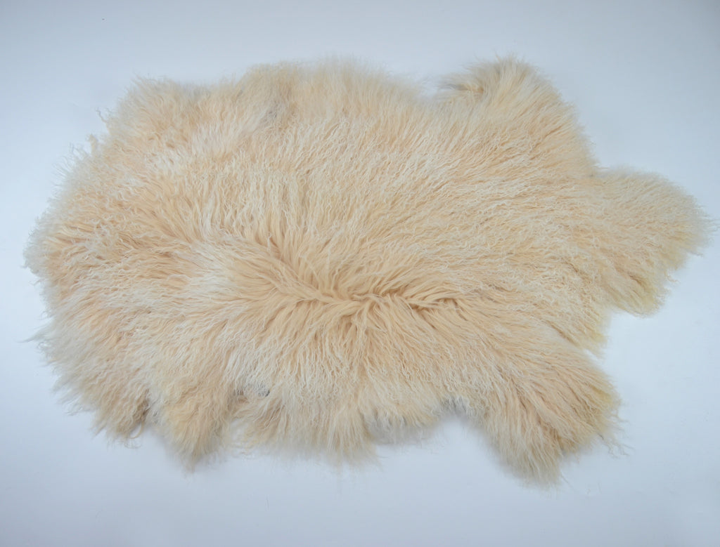 Real Genuine Mongolian Tibetan Lamb Long Fur Whole Pelt Plate