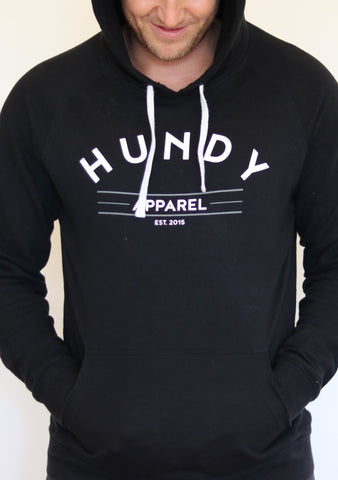 Hundy Hoody in Black - Unisex