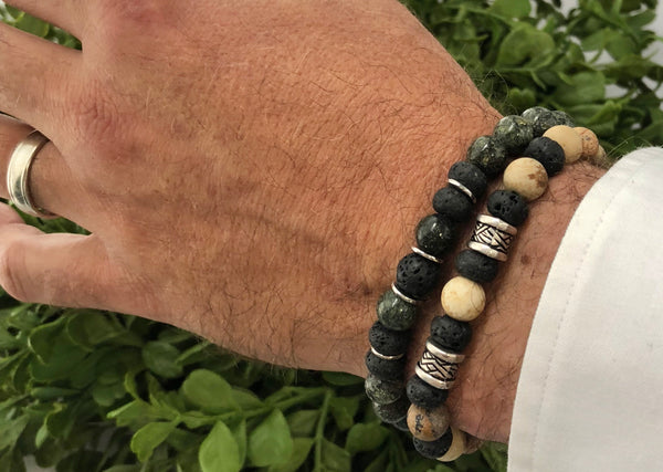 Lava Rock Bracelet Set