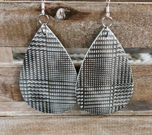 Load image into Gallery viewer, Leather Earrings-Houndstooth