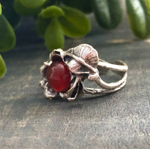 Load image into Gallery viewer, Floral Agate Ring