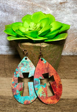 Load image into Gallery viewer, Copper & Turquoise Teardrops