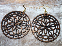 Load image into Gallery viewer, Wooden Earrings-Floral