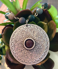 Load image into Gallery viewer, Silver Mandala with Jasper