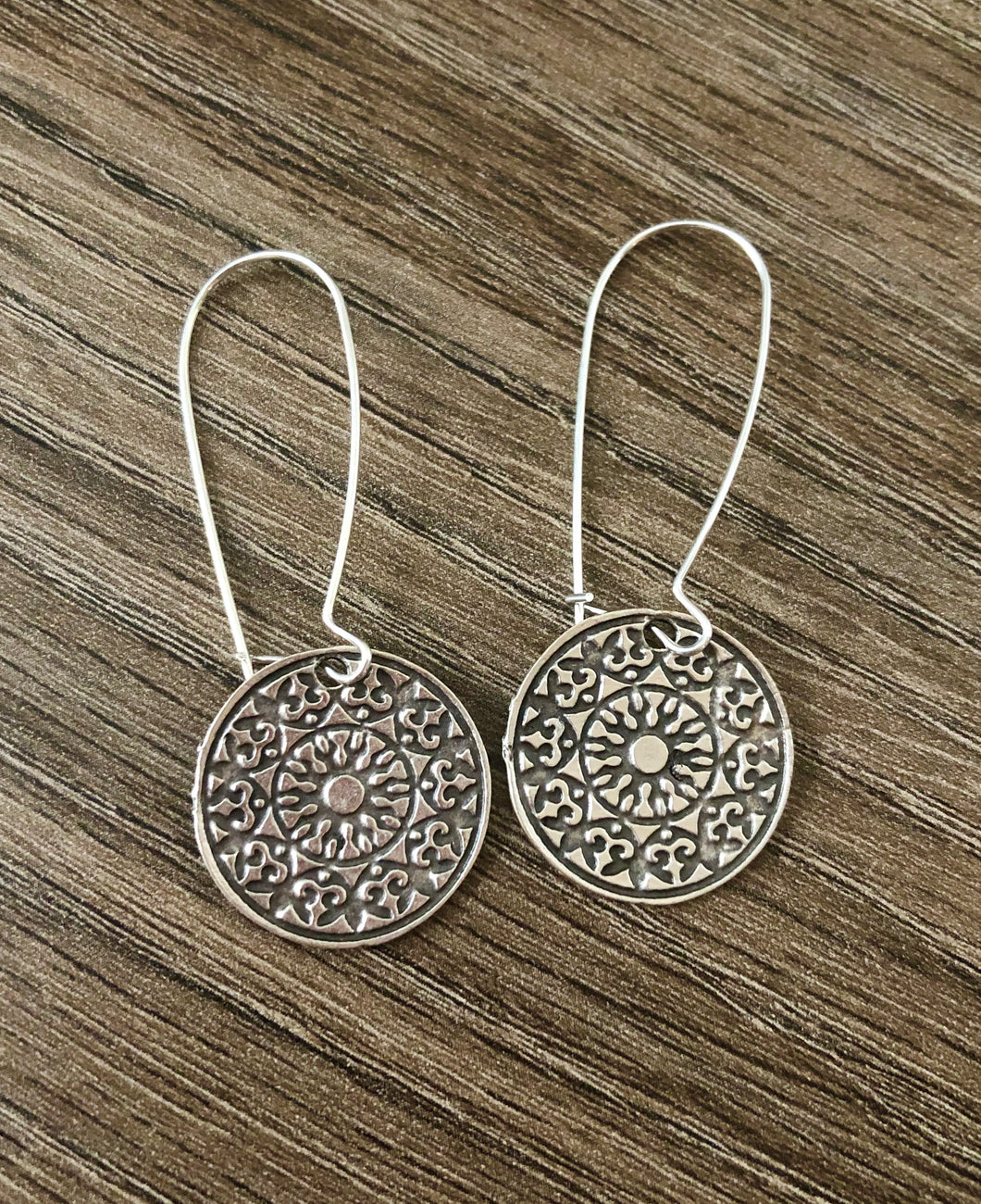 Mandala Token Earrings