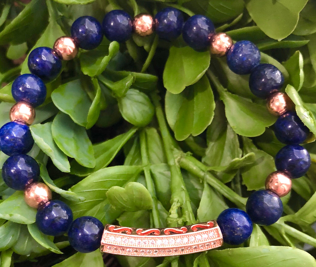 Rose Gold & Lapis Bracelet