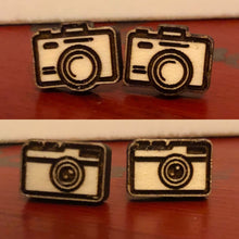 Load image into Gallery viewer, Camera Stud Earrings