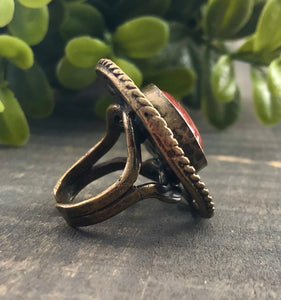 Antique Gold Scroll Ring