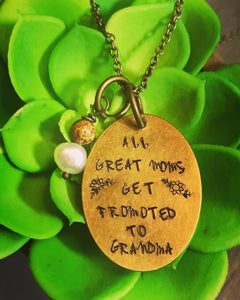 Hand Stamped-Grandma Necklace