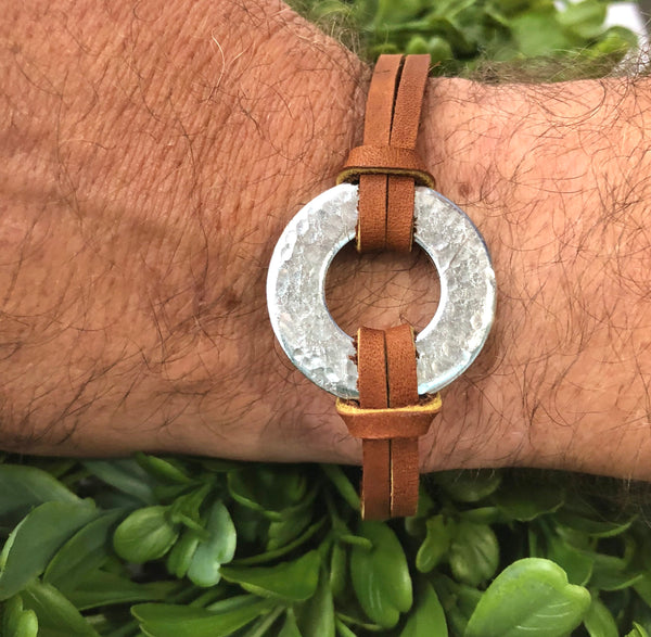 Hammered Washer Bracelet
