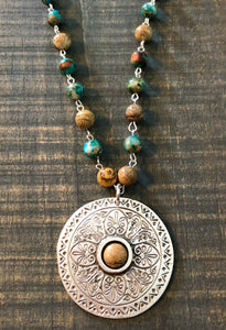 Mandala with Picture Jasper