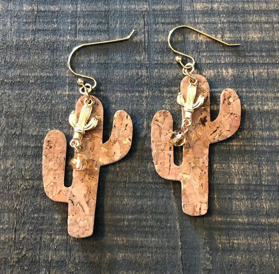 Cork Cactus with Charms