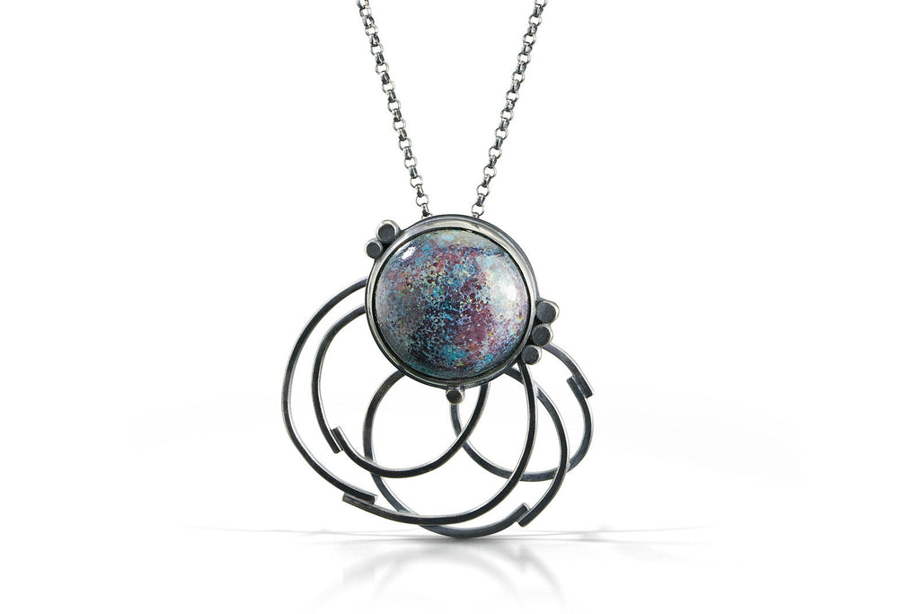 Galaxy Necklace with Loops
