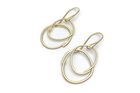 Intersect Earrings - 14K Gold Vermeil