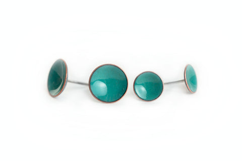 Pebble Studs - Teal - Choose From Two Sizes