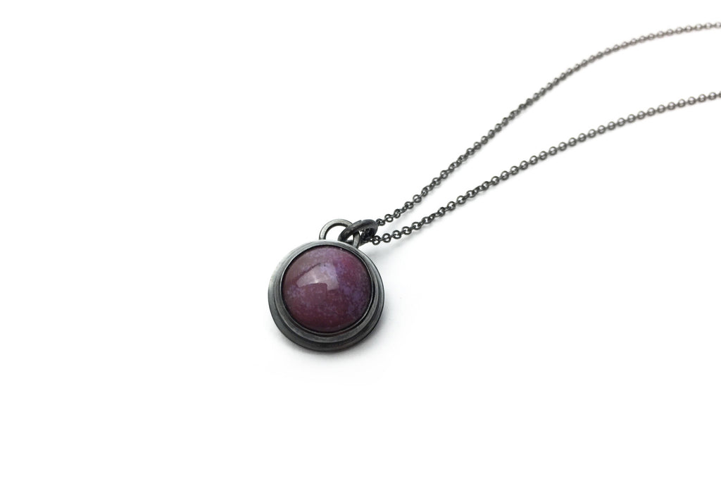 Berry Everyday Bezel Necklace - Small