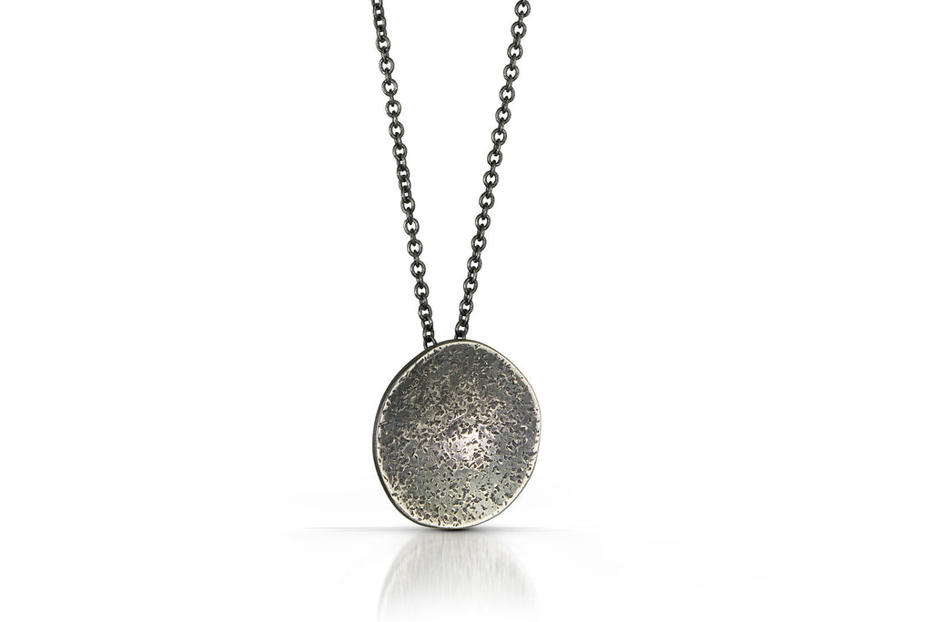 Speckled Pendant - Oxidized