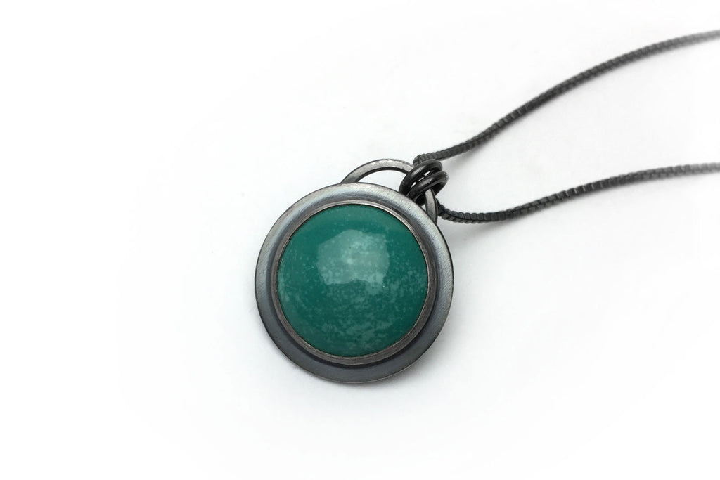 Teal Everyday Bezel Necklace