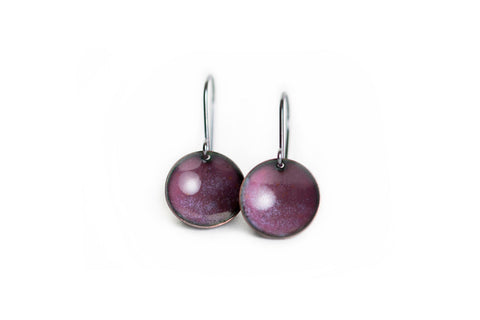 Pebble Earrings - Berry