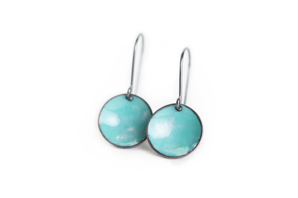 Pebble Earrings - Seafoam