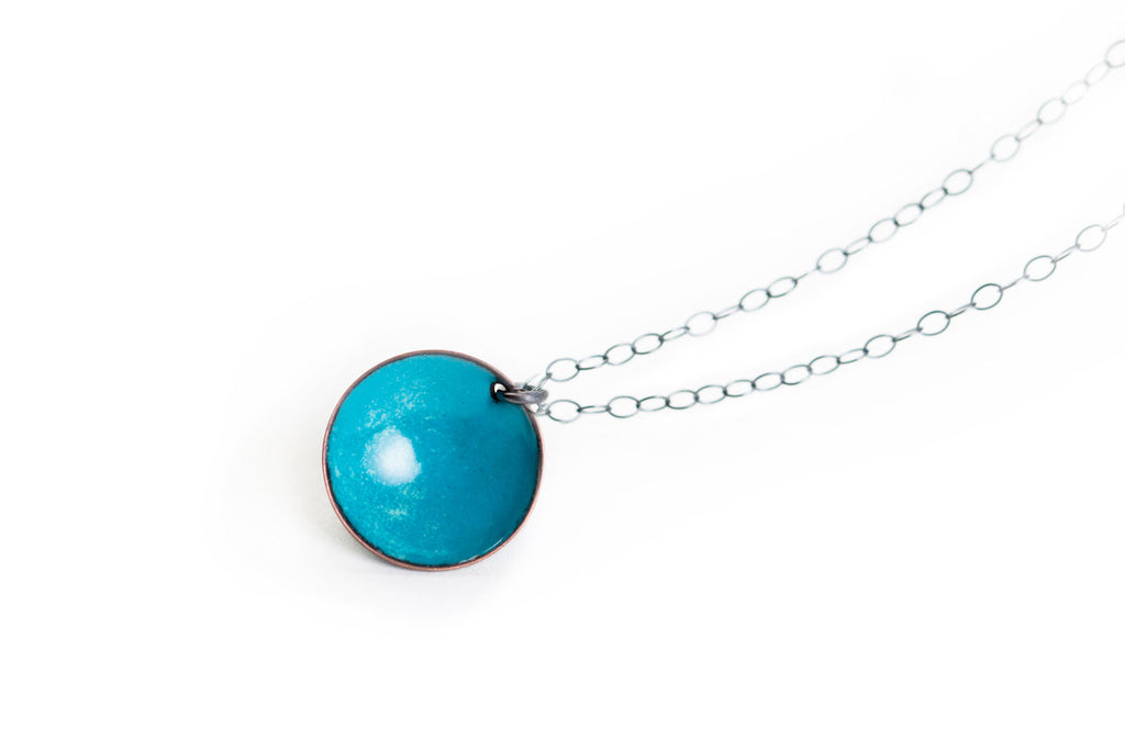 Pebble Necklace - Vibrant Blue